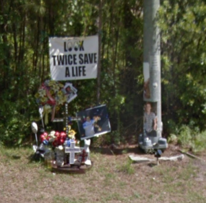 Ryan Mancuso Roadside Memorial in Myrtle Beach, South Carolina